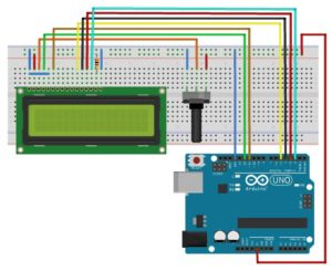 Circuito Arduino com Display LCD 16×2